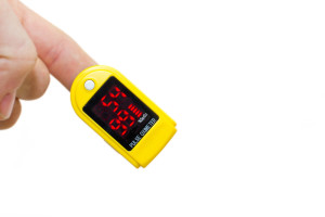 pulse oximeter used for six minute walk