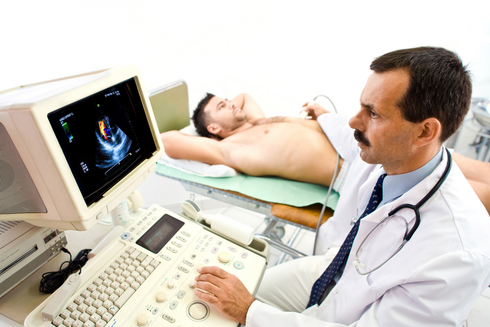 echocardiogram to assess PAH patient